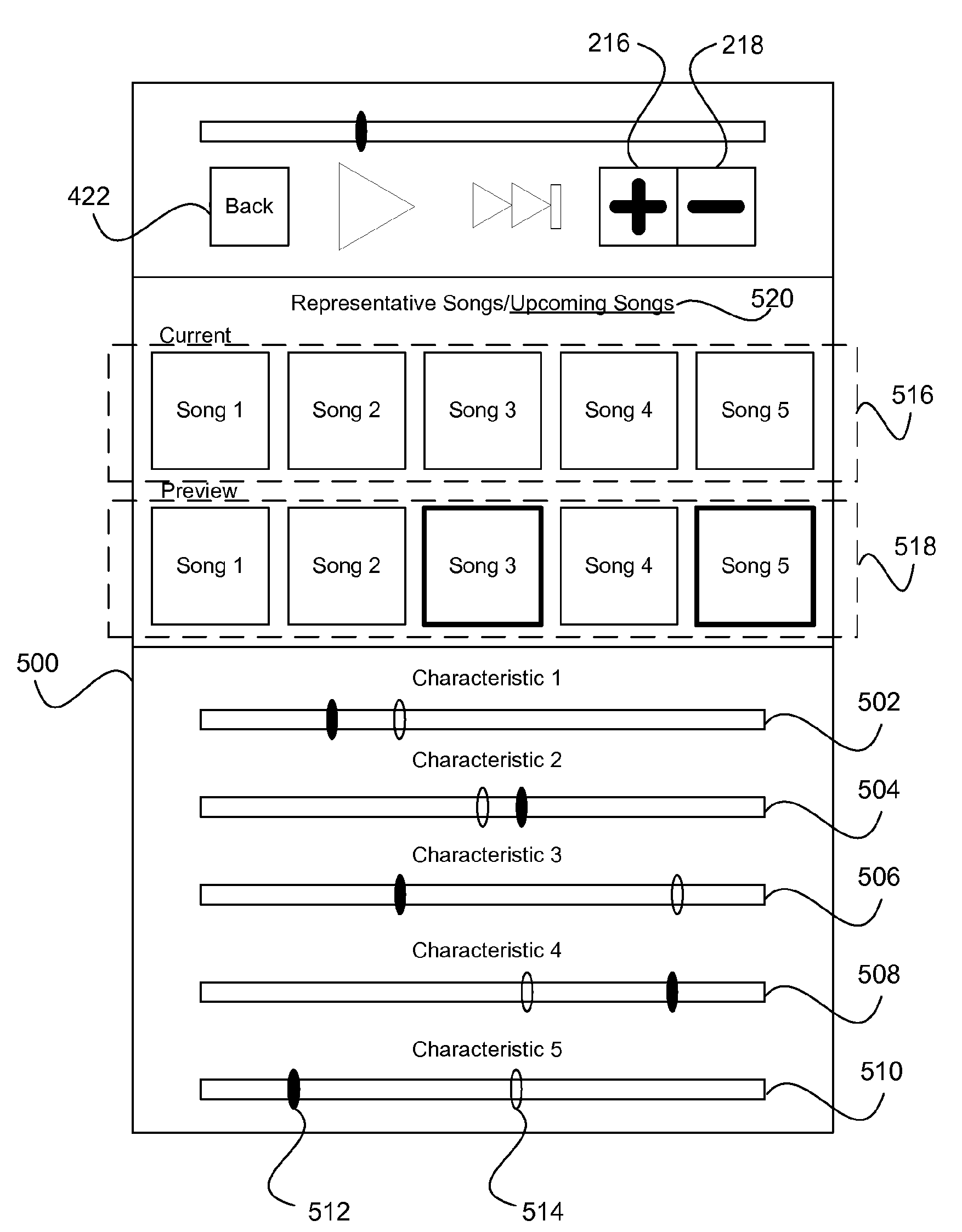 Apple patent (personalized iTunes Radio, drawing 005)