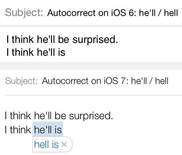 Autocorrect Hell