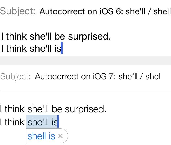 Autocorrect shell