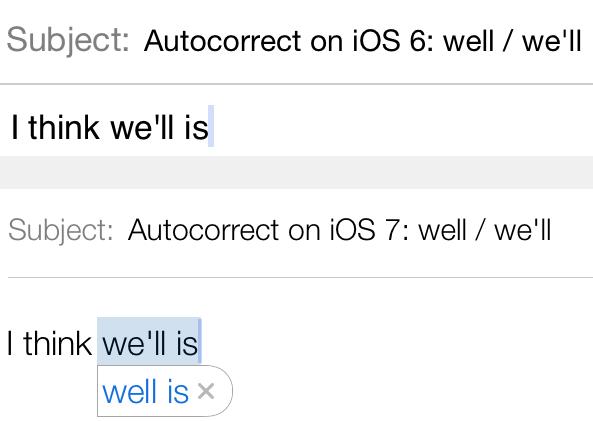 Autocorrect well