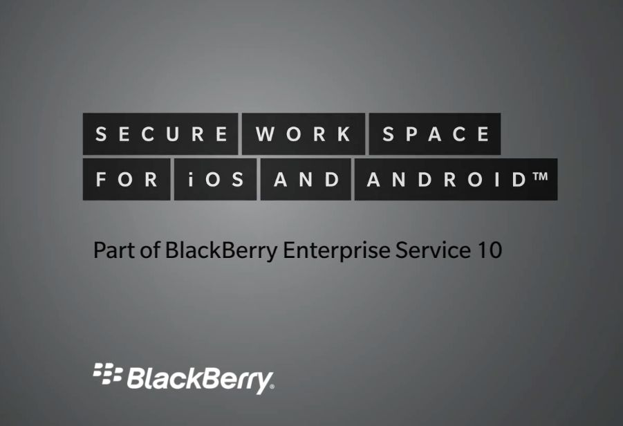 BlackBerry Secure Work Space (teaser 001)