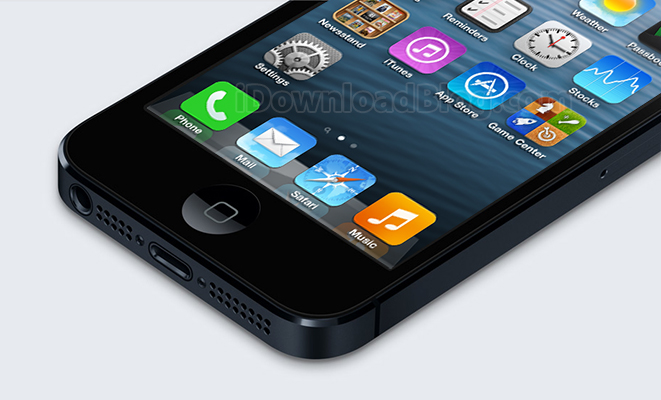 Bottom iPhone 5 iOs 7 icons mockup