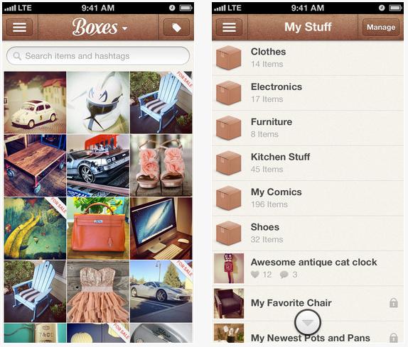 Boxes app