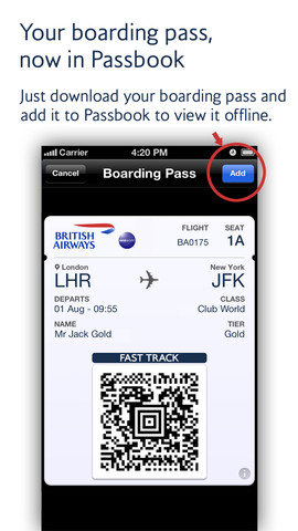 British Airways for iOS (iPhone screenshot 001)