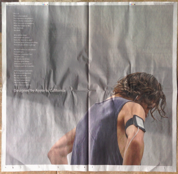 Desinged by Apple in California print ad