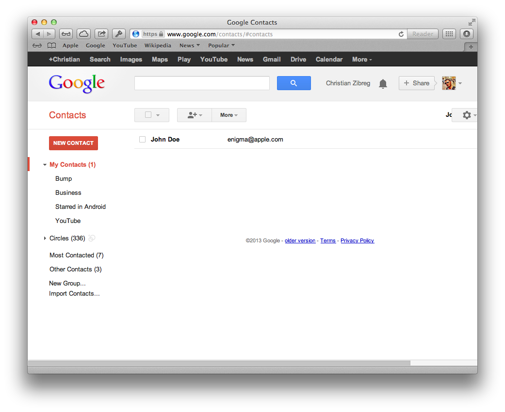 Google Contacts sync (web screenshot 004)