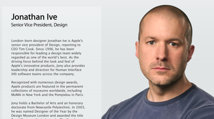 Jonatahan Ive (Apple SVP Design)