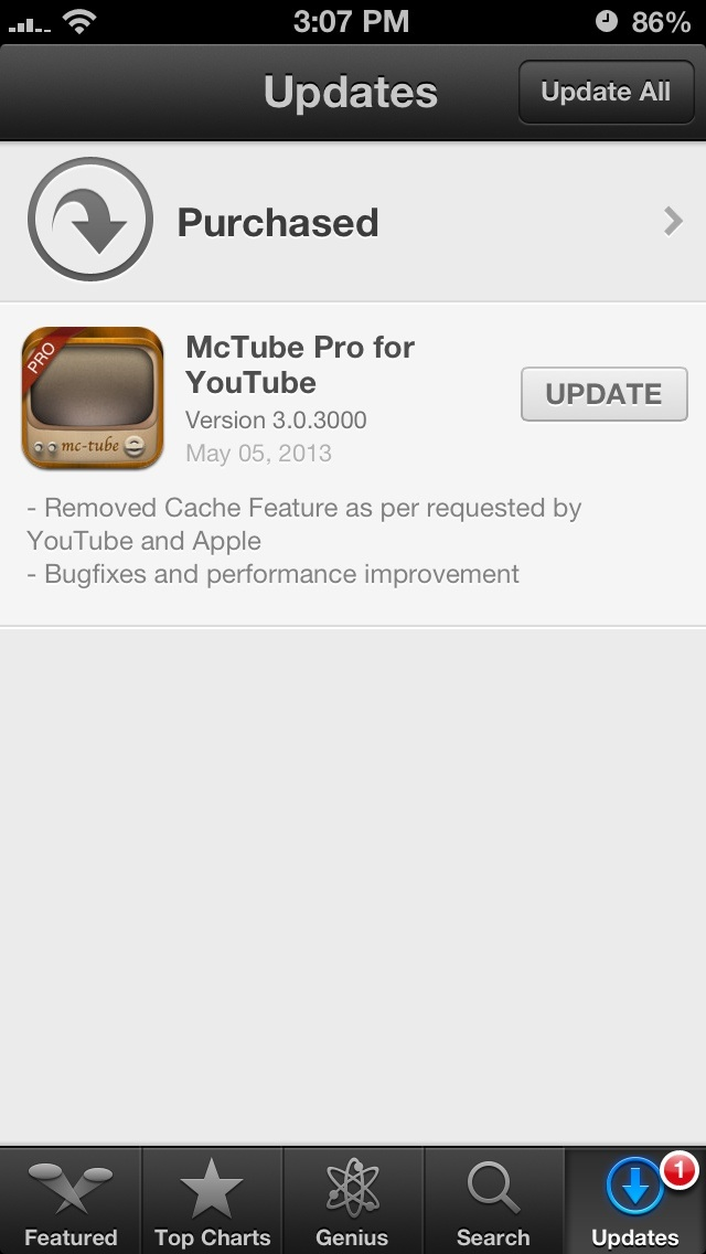 MCTube Pro removes YouTube caching