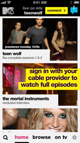 MTV 2.0 for iOS (iPhone screenshot 001)