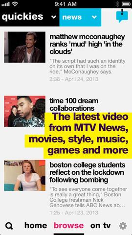 MTV 2.0 for iOS (iPhone screenshot 003)