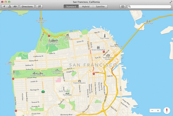 Mavericks maps features