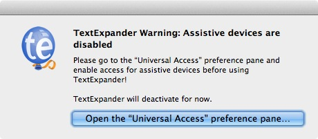 OS X 10.9 Mavericks TextExpander