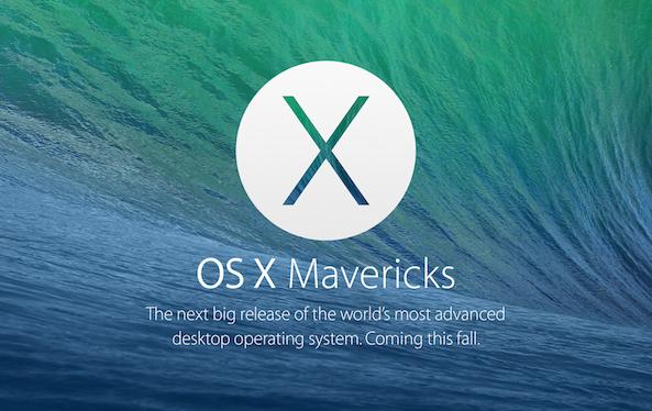 OS X Mavericks hero