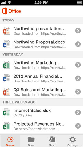 Office Mobile for iOS (iPhone screenshot 005)