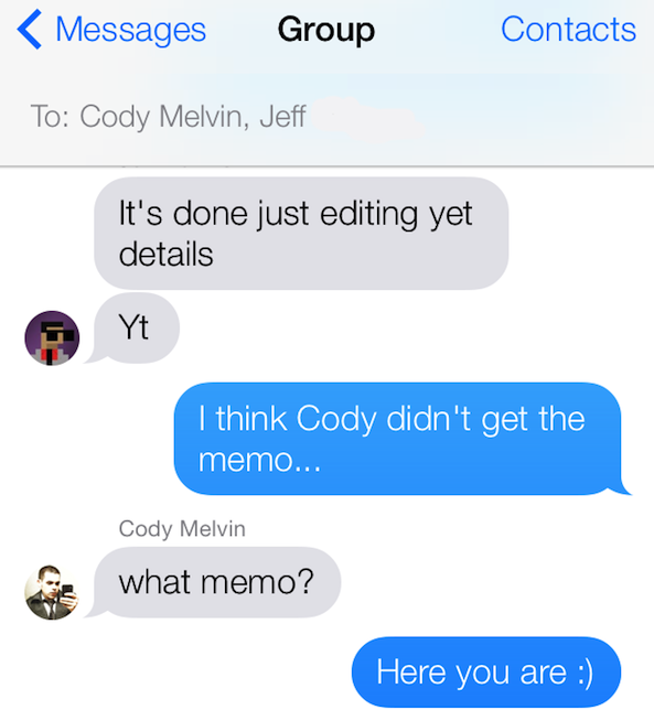 Photos in Group Messages iOS 7