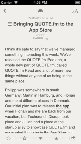 Reeder 3.1 for iOS (iPhone screenshot 001)