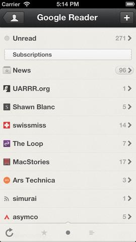 Reeder 3.1 for iOS (iPhone screenshot 002)