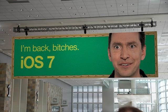 Scott Forstall WWDC 2013 black banner