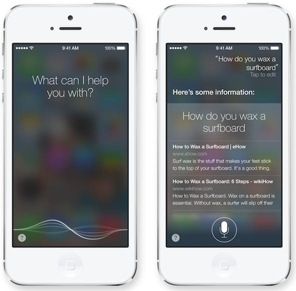 Siri iOS 7 1