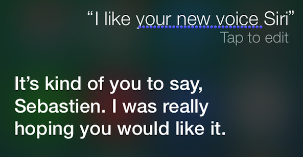 Siri new voice iOS 7 beta 2