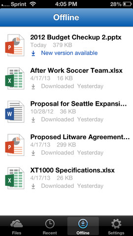 SkyDrive Pro 1.0 for iOS (iPhone screenshot 003)