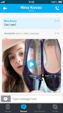 Skype for iOS 4.9 (iPhone screenshot 002)