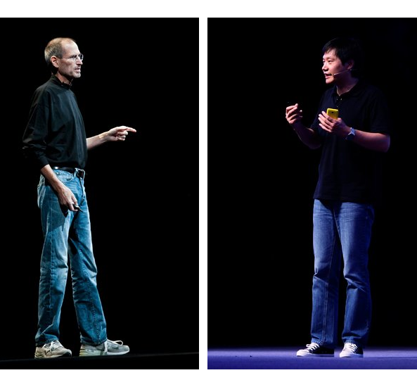 Steve Jobs and Lei Jun