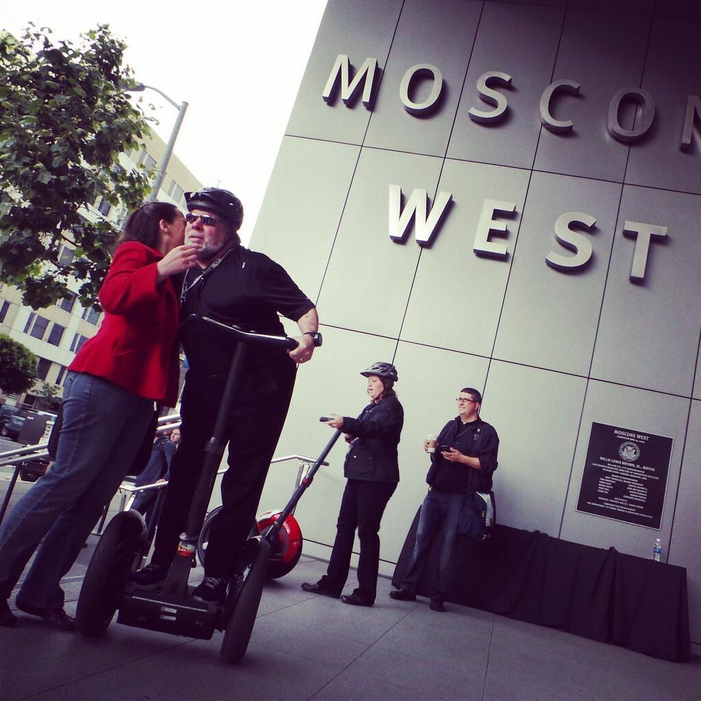 Stve Wozniak on Segway at WWDC 2013