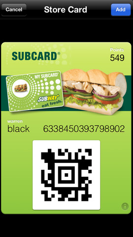 Subcard 1.8 for iOS (iPhone screenshot 001)