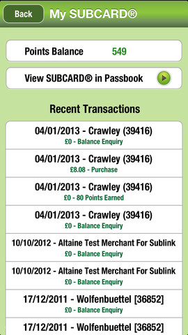 Subcard 1.8 for iOS (iPhone screenshot 002)