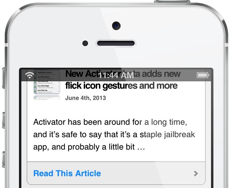 TranslucentStatusBar for Safari Featured
