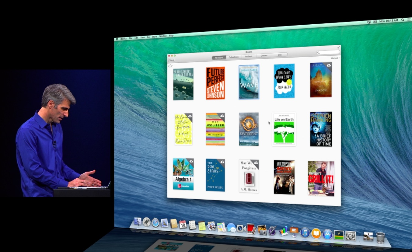 WWDC 2013 keynote (Craig Federighi, iBooks for Mac 001)