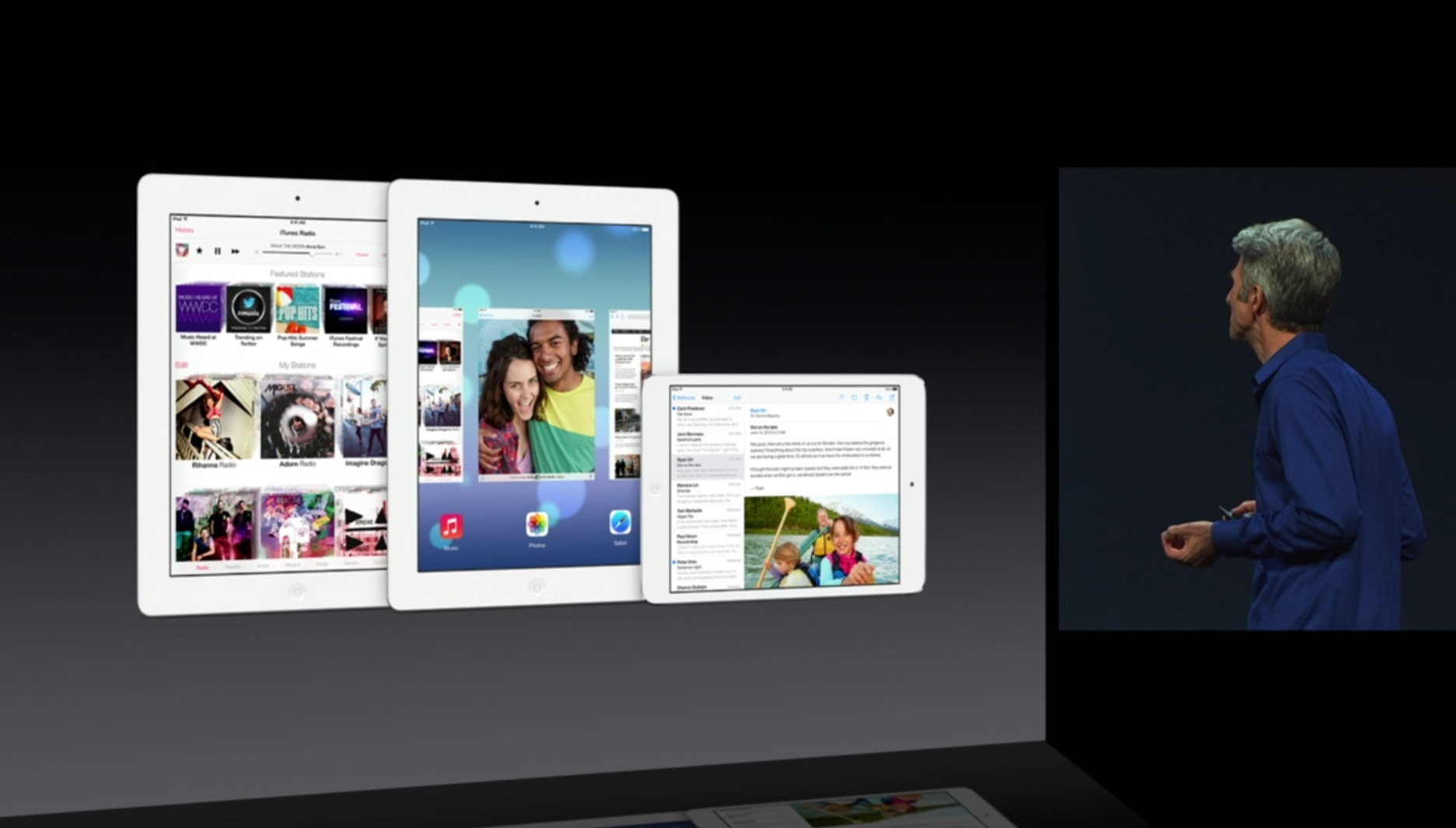 WWDC 2013 session slide (iPad multitasking)
