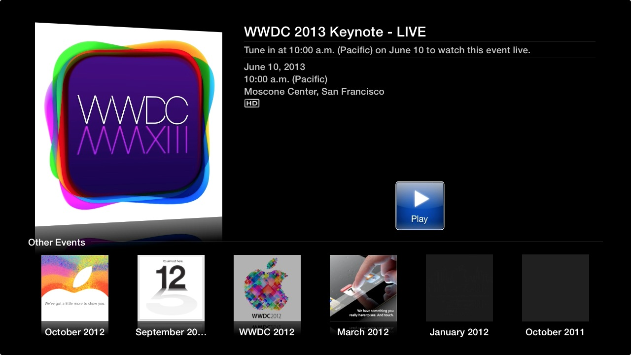 WWDC Apple TV
