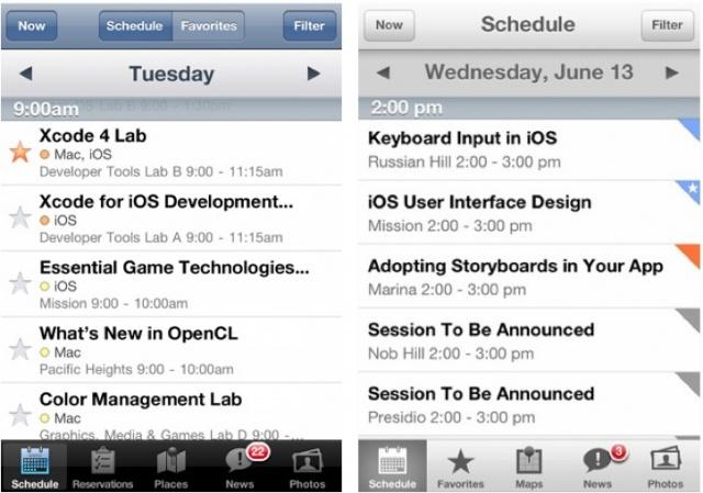 WWDC app 2013 vs 2012