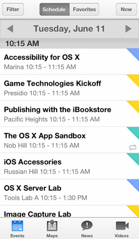WWDC for iOS (iPhone screenshot 001)