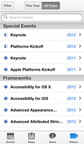 WWDC for iOS (iPhone screenshot 002)