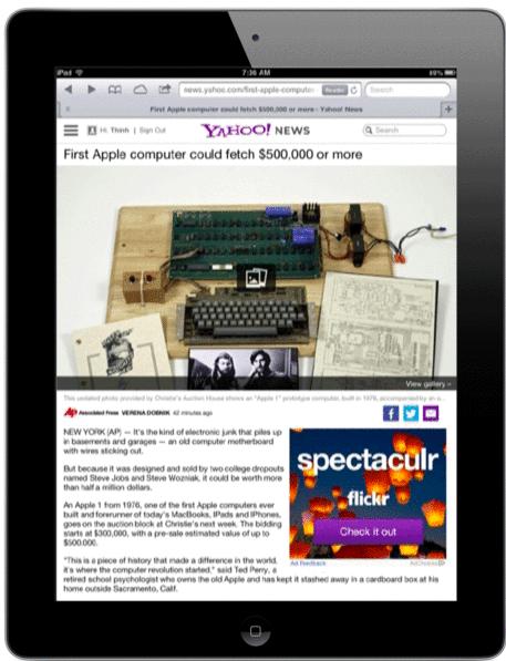 Yahoo News (iPad teaser 001)