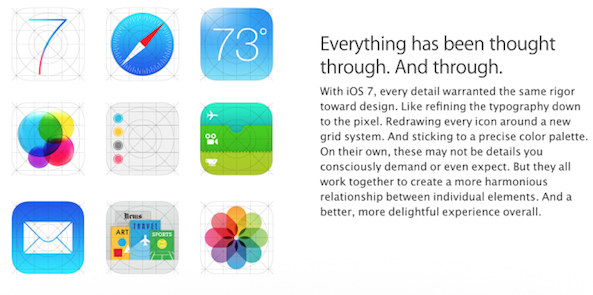 different ios 7 icons apple