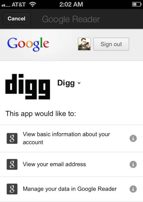 digg reader 1