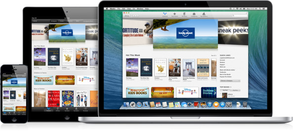 iBooks (three up, MacBook, iPad, iPhone)
