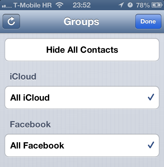 iOS 6 (Facebook, Contacts sync 002)