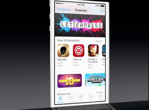 iOS 7 App Store Home