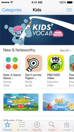 iOS 7 (App Store, Kids 001)