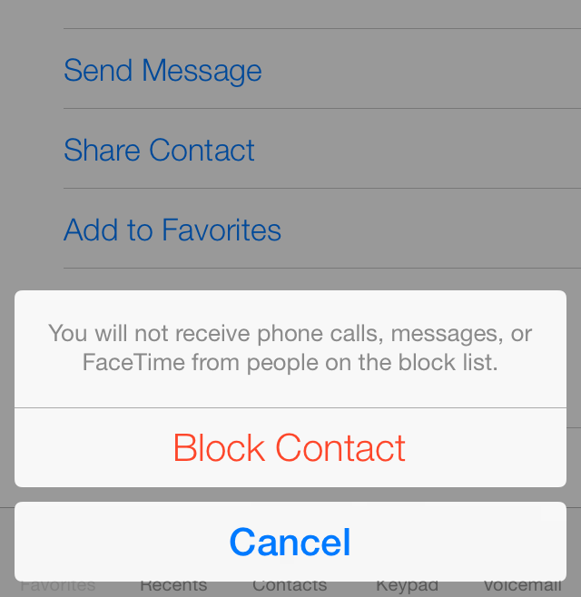 iOS 7 (BLock This Caller 002)