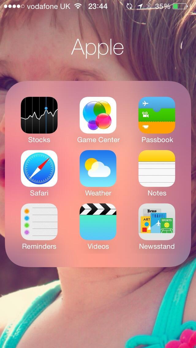 iOS 7 (Folders)