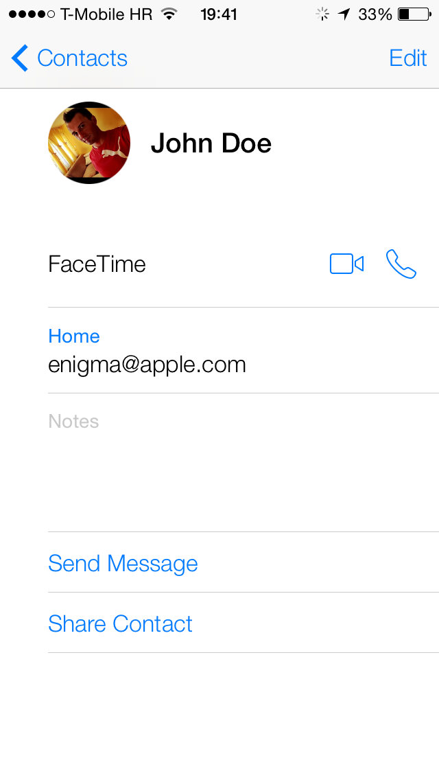 iOS 7 (Google Contacts sync 001)
