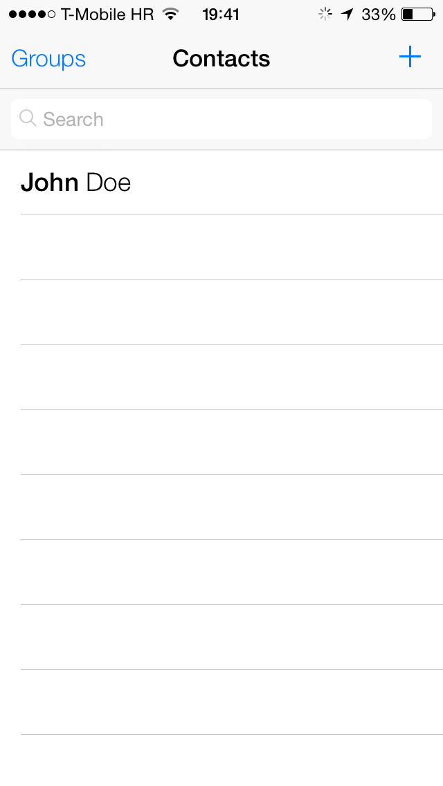 iOS 7 (Google Contacts sync 003)