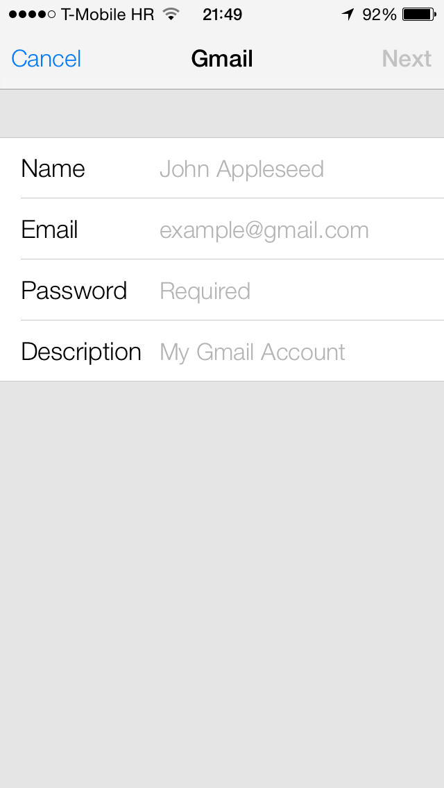 iOS 7 (Google Contacts sync 005)