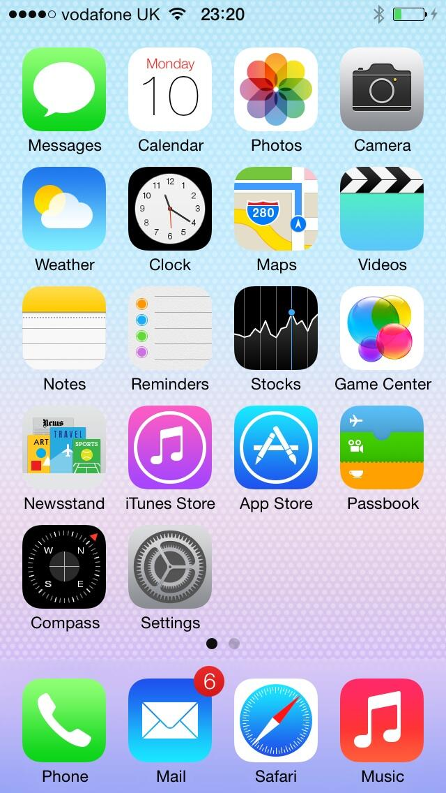 iOS 7 (Home screen)